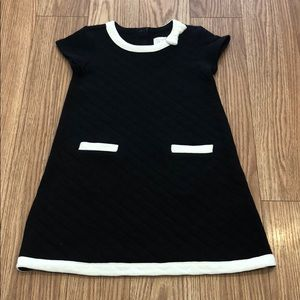 The Children's Place black and white quilted dress